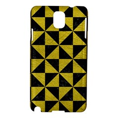 Triangle1 Black Marble & Yellow Leather Samsung Galaxy Note 3 N9005 Hardshell Case