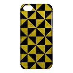 Triangle1 Black Marble & Yellow Leather Apple Iphone 5c Hardshell Case