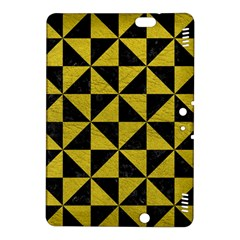 Triangle1 Black Marble & Yellow Leather Kindle Fire Hdx 8 9  Hardshell Case