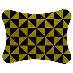 Triangle1 Black Marble & Yellow Leather Jigsaw Puzzle Photo Stand (bow)