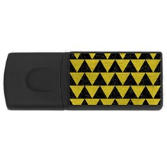Triangle2 Black Marble & Yellow Leather Rectangular Usb Flash Drive
