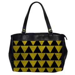 Triangle2 Black Marble & Yellow Leather Office Handbags