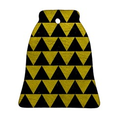 Triangle2 Black Marble & Yellow Leather Ornament (bell)