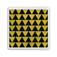 Triangle2 Black Marble & Yellow Leather Memory Card Reader (square)