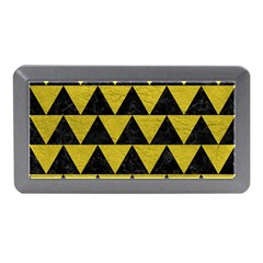 Triangle2 Black Marble & Yellow Leather Memory Card Reader (mini)