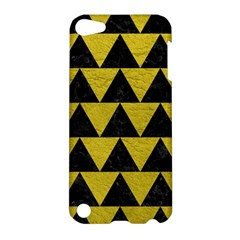 Triangle2 Black Marble & Yellow Leather Apple Ipod Touch 5 Hardshell Case