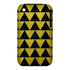 Triangle2 Black Marble & Yellow Leather Iphone 3s/3gs