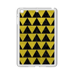 Triangle2 Black Marble & Yellow Leather Ipad Mini 2 Enamel Coated Cases