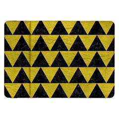 Triangle2 Black Marble & Yellow Leather Samsung Galaxy Tab 8 9  P7300 Flip Case