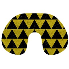 Triangle2 Black Marble & Yellow Leather Travel Neck Pillows