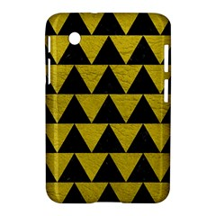 Triangle2 Black Marble & Yellow Leather Samsung Galaxy Tab 2 (7 ) P3100 Hardshell Case