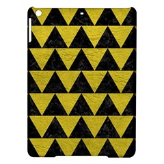 Triangle2 Black Marble & Yellow Leather Ipad Air Hardshell Cases