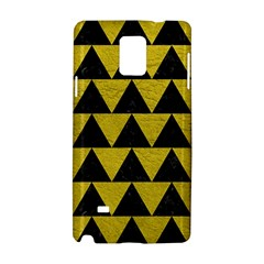 Triangle2 Black Marble & Yellow Leather Samsung Galaxy Note 4 Hardshell Case