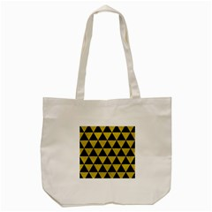 Triangle3 Black Marble & Yellow Leather Tote Bag (cream)