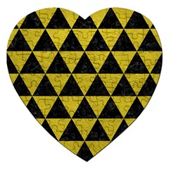 Triangle3 Black Marble & Yellow Leather Jigsaw Puzzle (heart)