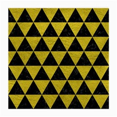 Triangle3 Black Marble & Yellow Leather Medium Glasses Cloth (2 Side)