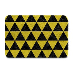 Triangle3 Black Marble & Yellow Leather Plate Mats