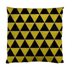 Triangle3 Black Marble & Yellow Leather Standard Cushion Case (two Sides)