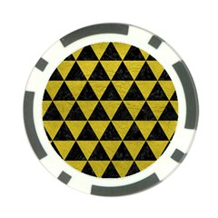 Triangle3 Black Marble & Yellow Leather Poker Chip Card Guard (10 Pack)