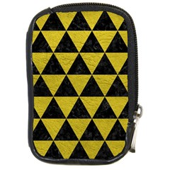 Triangle3 Black Marble & Yellow Leather Compact Camera Cases