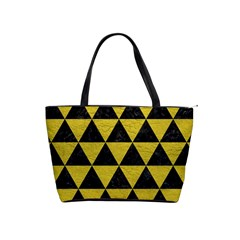 Triangle3 Black Marble & Yellow Leather Shoulder Handbags