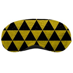 Triangle3 Black Marble & Yellow Leather Sleeping Masks