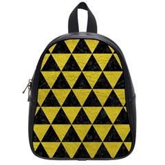 Triangle3 Black Marble & Yellow Leather School Bag (small)