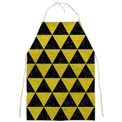 Triangle3 Black Marble & Yellow Leather Full Print Aprons