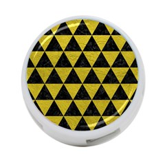 Triangle3 Black Marble & Yellow Leather 4 Port Usb Hub (one Side)