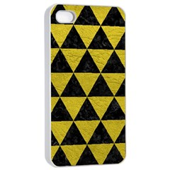 Triangle3 Black Marble & Yellow Leather Apple Iphone 4/4s Seamless Case (white)