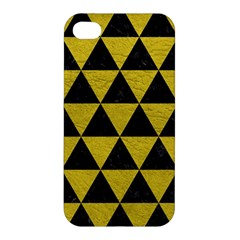 Triangle3 Black Marble & Yellow Leather Apple Iphone 4/4s Hardshell Case