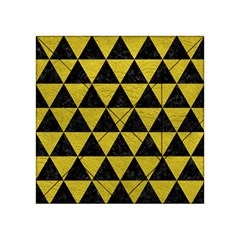 Triangle3 Black Marble & Yellow Leather Acrylic Tangram Puzzle (4  X 4 )