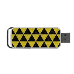 Triangle3 Black Marble & Yellow Leather Portable Usb Flash (two Sides)