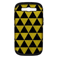 Triangle3 Black Marble & Yellow Leather Samsung Galaxy S Iii Hardshell Case (pc+silicone)