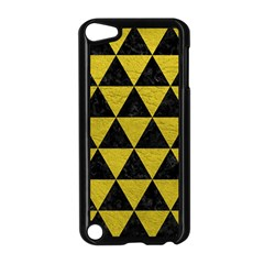 Triangle3 Black Marble & Yellow Leather Apple Ipod Touch 5 Case (black)