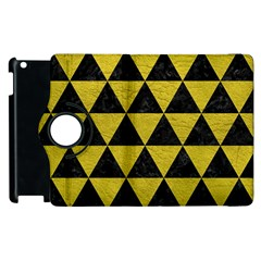 Triangle3 Black Marble & Yellow Leather Apple Ipad 2 Flip 360 Case