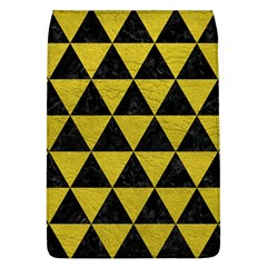 Triangle3 Black Marble & Yellow Leather Flap Covers (l)