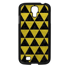 Triangle3 Black Marble & Yellow Leather Samsung Galaxy S4 I9500/ I9505 Case (black)