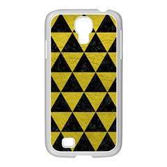 Triangle3 Black Marble & Yellow Leather Samsung Galaxy S4 I9500/ I9505 Case (white)