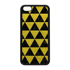 Triangle3 Black Marble & Yellow Leather Apple Iphone 5c Seamless Case (black)