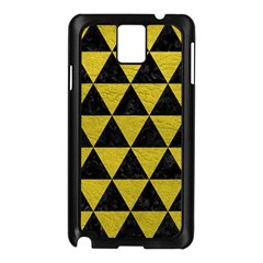 Triangle3 Black Marble & Yellow Leather Samsung Galaxy Note 3 N9005 Case (black)