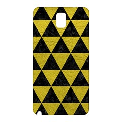 Triangle3 Black Marble & Yellow Leather Samsung Galaxy Note 3 N9005 Hardshell Back Case