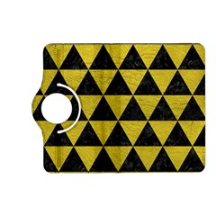 Triangle3 Black Marble & Yellow Leather Kindle Fire Hd (2013) Flip 360 Case