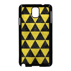 Triangle3 Black Marble & Yellow Leather Samsung Galaxy Note 3 Neo Hardshell Case (black)