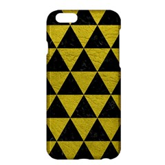 Triangle3 Black Marble & Yellow Leather Apple Iphone 6 Plus/6s Plus Hardshell Case