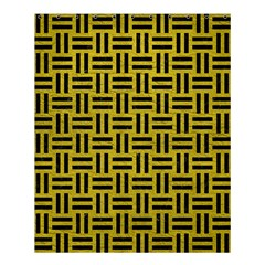 Woven1 Black Marble & Yellow Leather Shower Curtain 60  X 72  (medium)