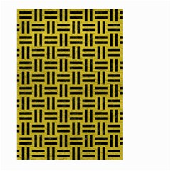 Woven1 Black Marble & Yellow Leather Large Garden Flag (two Sides)