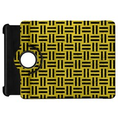 Woven1 Black Marble & Yellow Leather Kindle Fire Hd 7