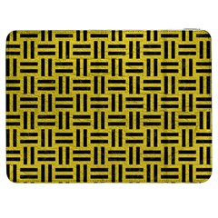 Woven1 Black Marble & Yellow Leather Samsung Galaxy Tab 7  P1000 Flip Case
