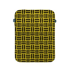 Woven1 Black Marble & Yellow Leather Apple Ipad 2/3/4 Protective Soft Cases